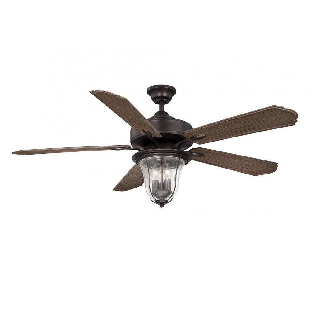 New 52 3 Light Bronze Indoor Ceiling Fan Best Price: Illumine Avatar 52 In. English Bronze Indoor Ceiling Fan