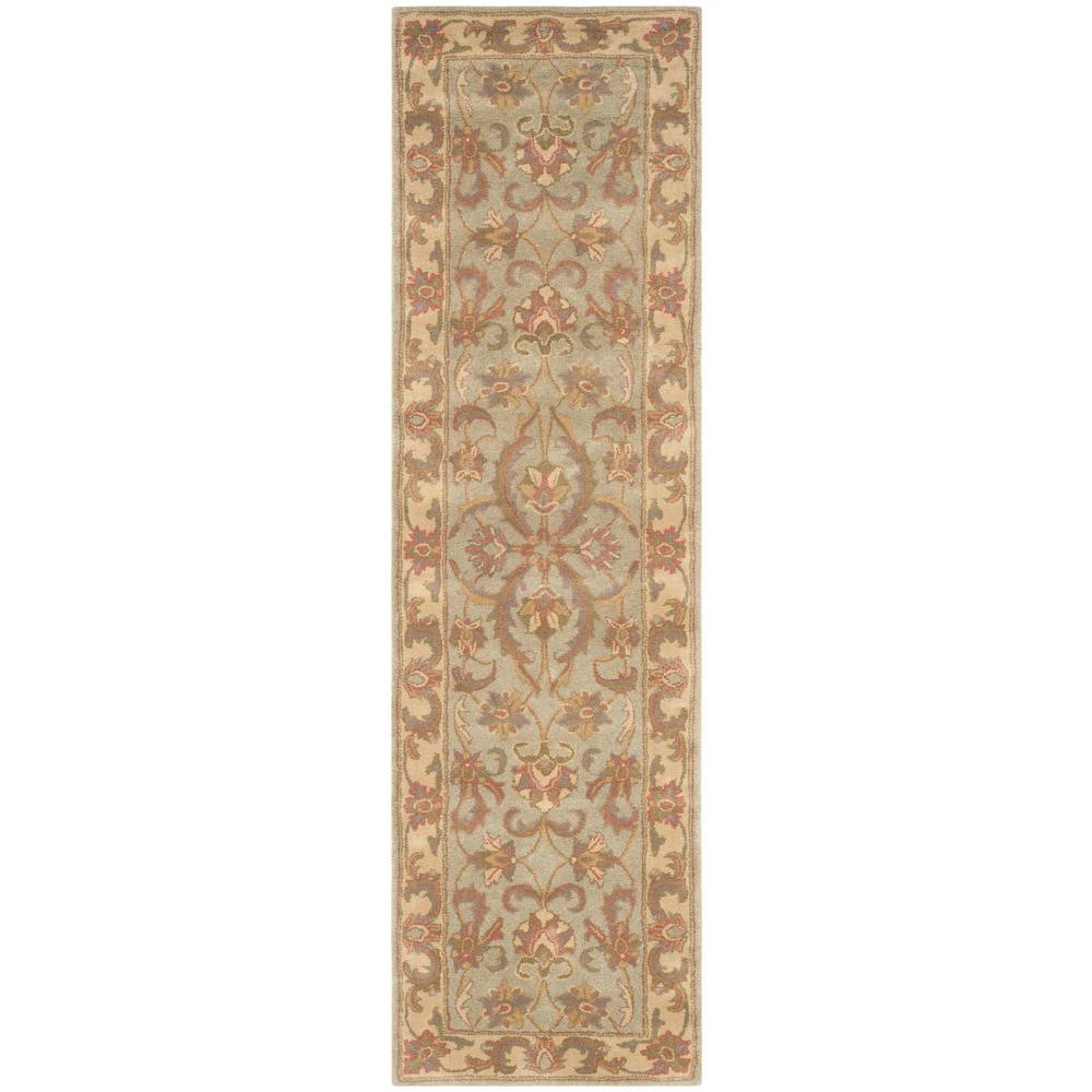 Heritage Green/Gold 2 ft. 3 in. x 12 ft. Runner