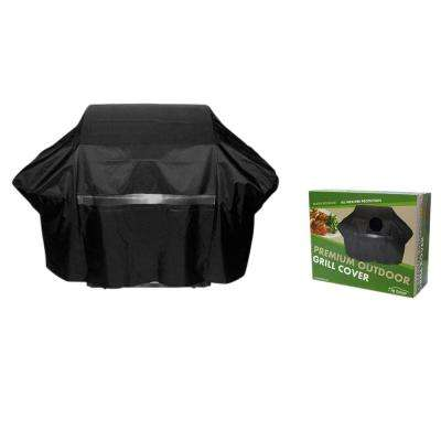 70 in. x 24 in. x 45 in. Black Heavy Duty Large Oxford Material with PVC Coating Grill Cover