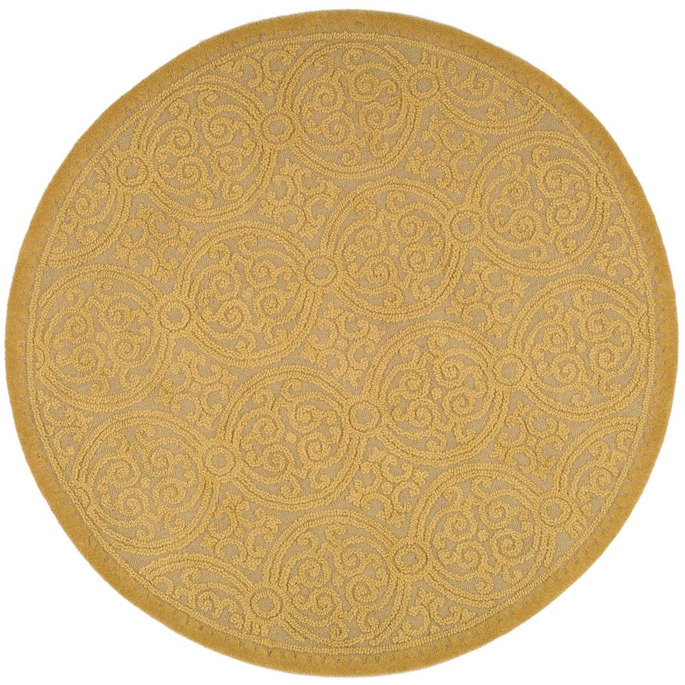 Safavieh Cambridge Light Gold Dark Gold 6 Ft X 6 Ft