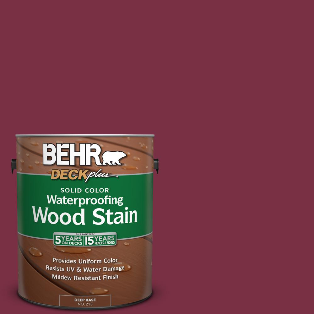 1 gal. #PPU1-13 Spiced Wine Solid Color Waterproofing Wood Stain