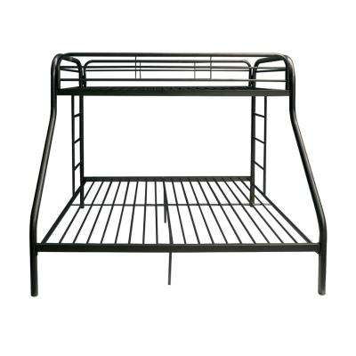 Tritan Black Twin Over Queen Metal Bunk Bed