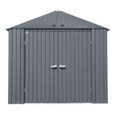 Elite 8 ft. W x 6 ft. D Anthracite Gray Premium Vented Corrosion Resistant Steel Storage Shed