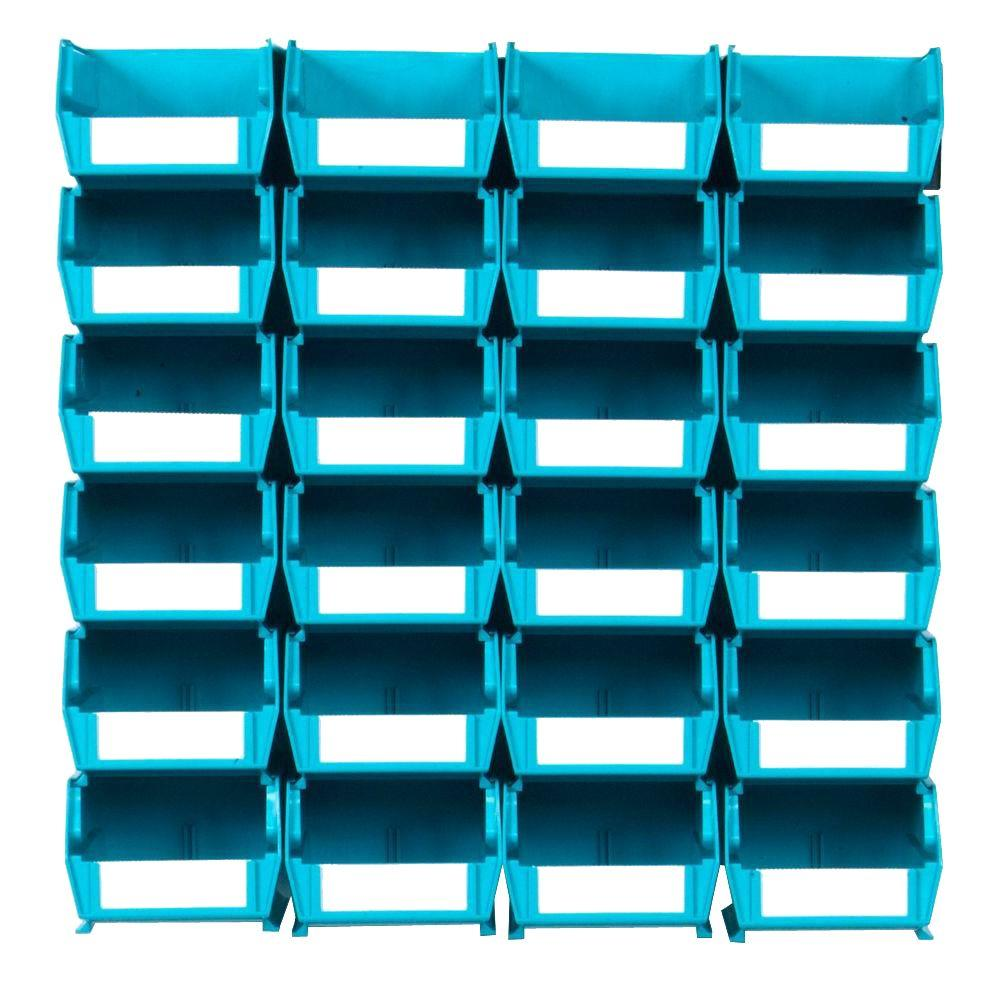 Beau Triton Products LocBin Small Wall Storage Bin (24 Piece) With 2 Wall