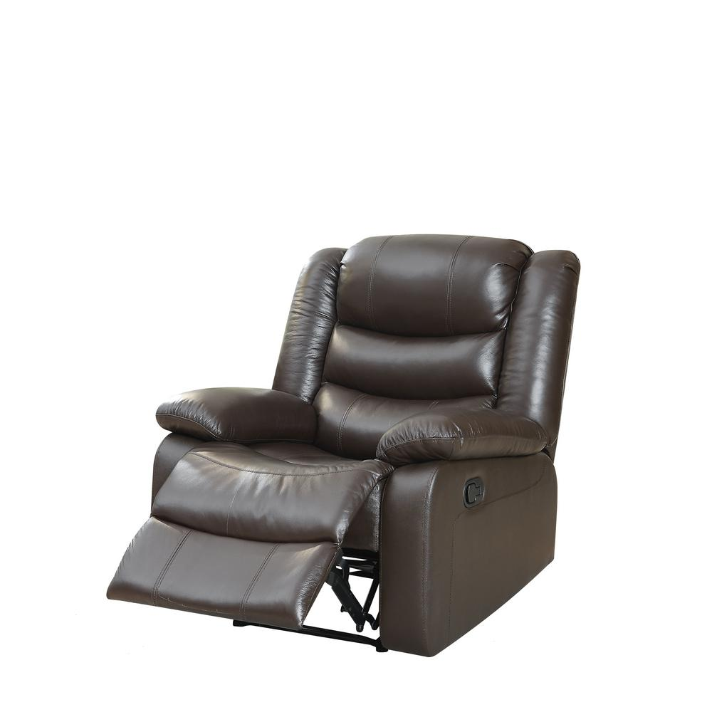 ACME Fede Top Grain Leather Espresso Recliner
