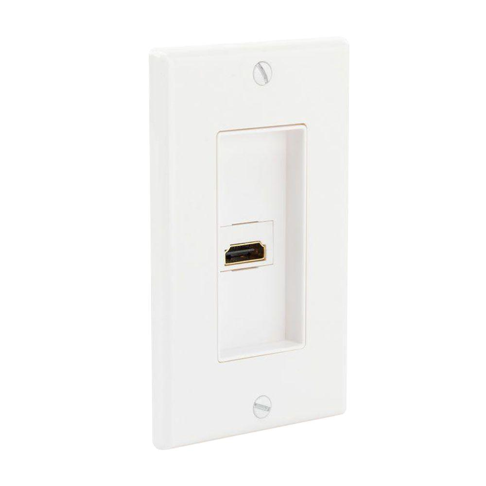 Wall Plug Plates Audio & Video Wall Plates  Wall Plates  The Home Depot