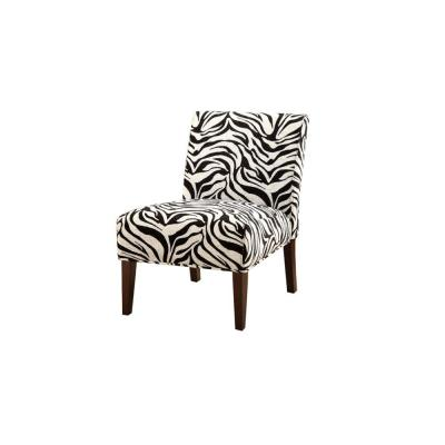 Armless Black and White Accent Chair