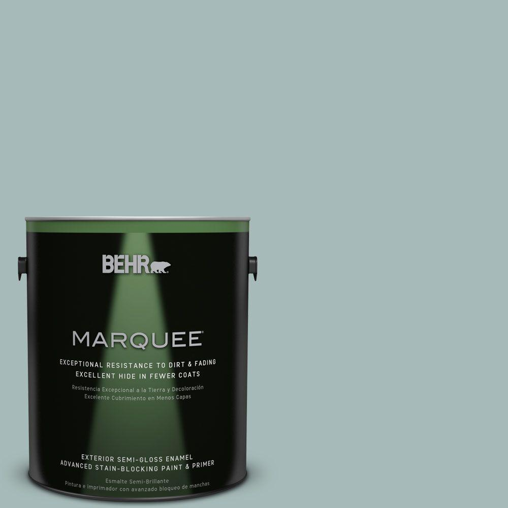 BEHR MARQUEE 1-gal. #QE-43 Water Surface Semi-Gloss Enamel Exterior Paint