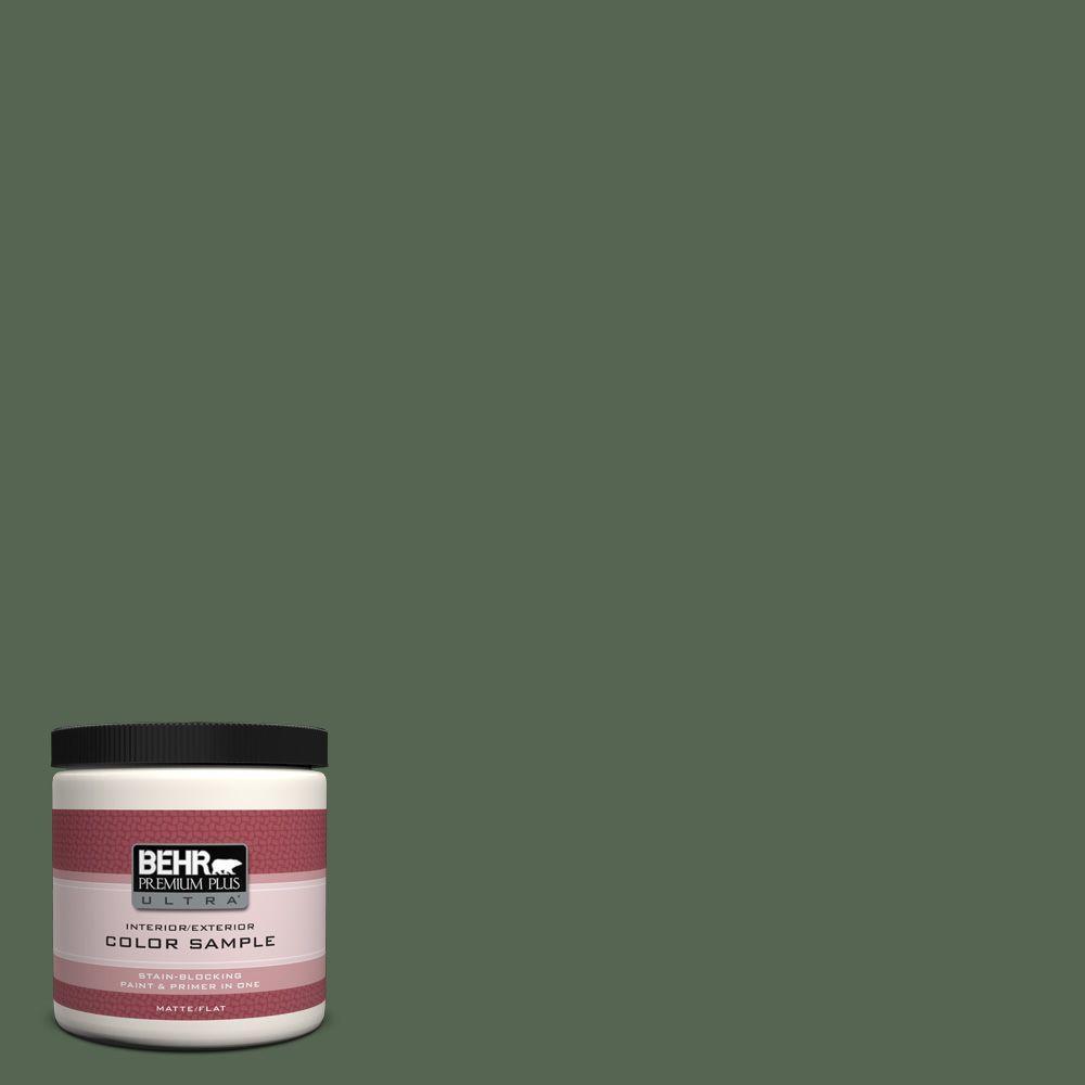 8 oz. #HDC-WR15-11 Deep Emerald Interior/Exterior Paint Sample