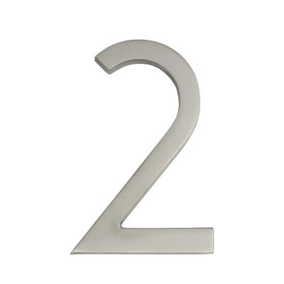 Frank Lloyd Wright Collection 4 in. Wright Satin Nickel Floating House Number 2