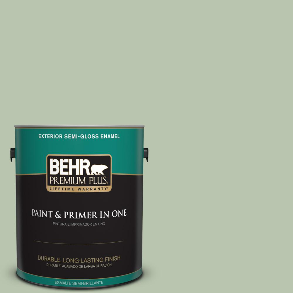 1 gal. #PPU11-10 Whitewater Bay Semi-Gloss Enamel Exterior Paint