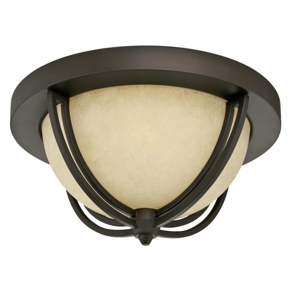 Westinghouse Malvern 2-Light Oil Rubbed Bronze Flush Mount
