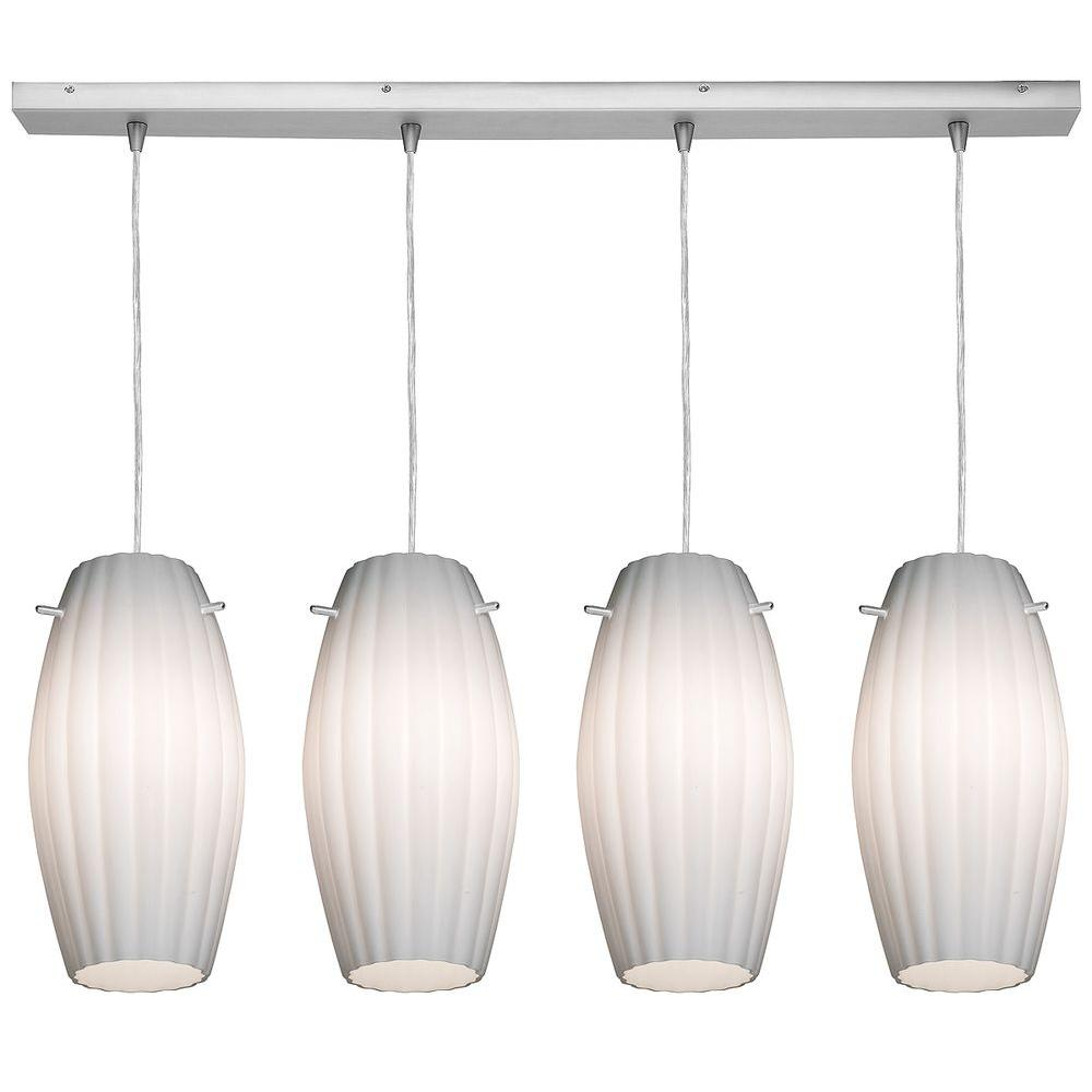 Access Lighting 4-Light Pendant Oil Rubbed Bronze Finish Opal Glass-DISCONTINUED