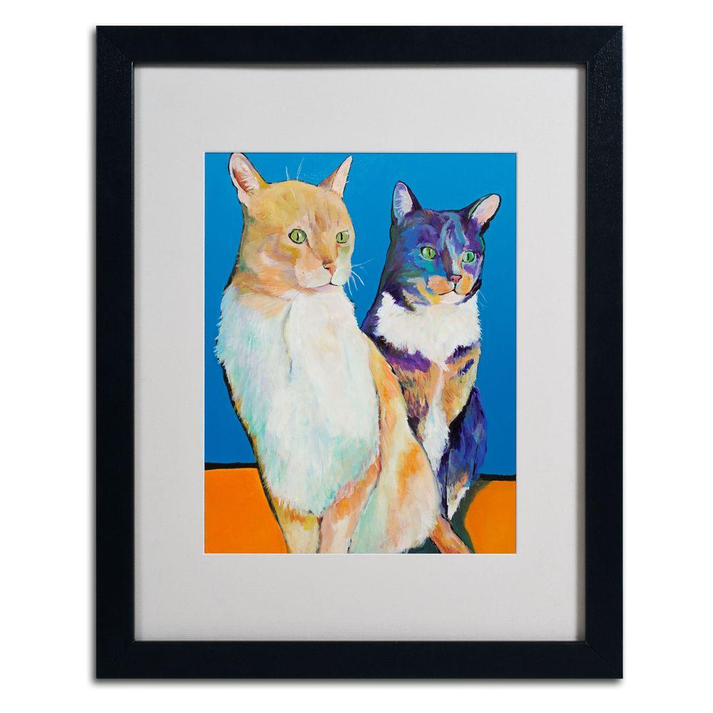 null 16 in. x 20 in. Dos Amores Matted Framed Wall Art