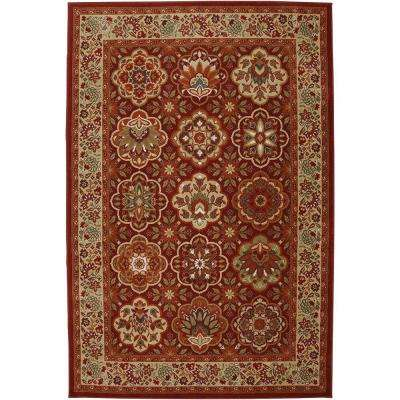 Copperhill Madder Brown 5 ft. x 8 ft. Indoor/Outdoor Area Rug