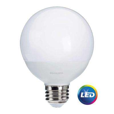 60W Equivalent Soft White Frosted G25 Globe LED Light Bulb (12-Pack)