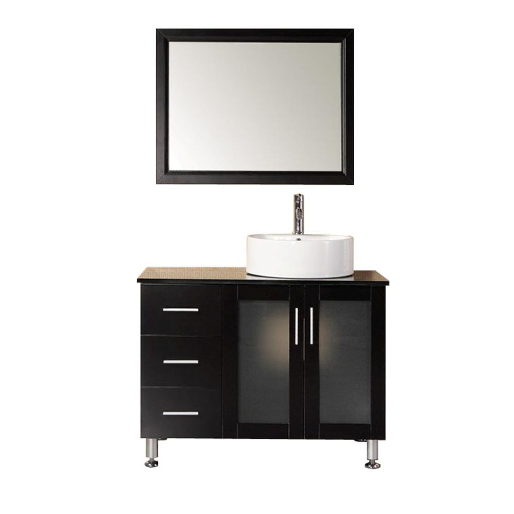 design element bathroom vanities design element malibu 39 in w x 22 in d vanity in 17236