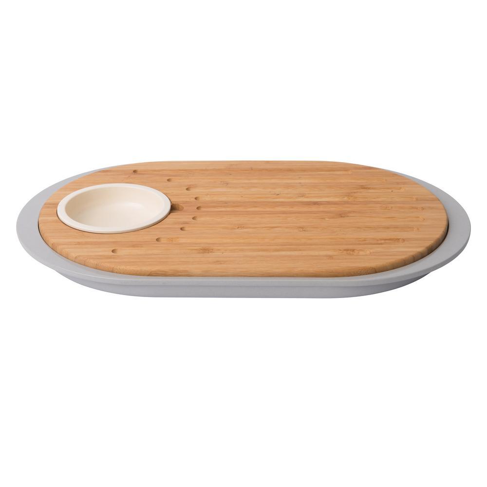 Leo 2- Sided Bamboo Tapas Cutting Board