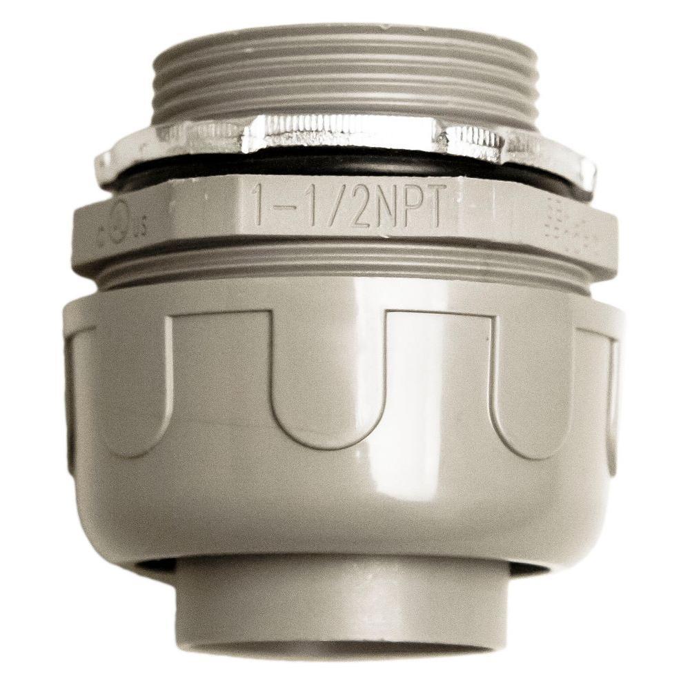 1-1/2 in. Liquidtite NM Straight PVC Conduit Fitting Connector