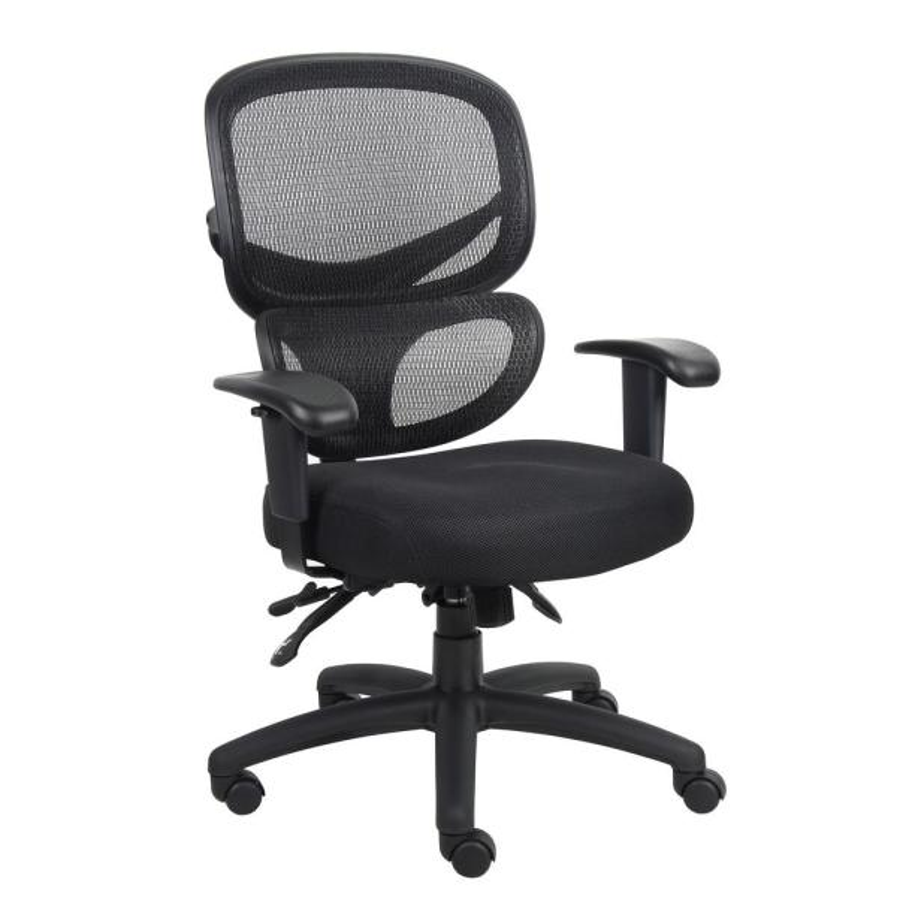 Black Multi-Function Mesh Task Chair
