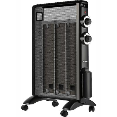 Arcade 1500-Watt Electric Micathermic Flat-Panel Space Heater with Adjustable Thermostat Black