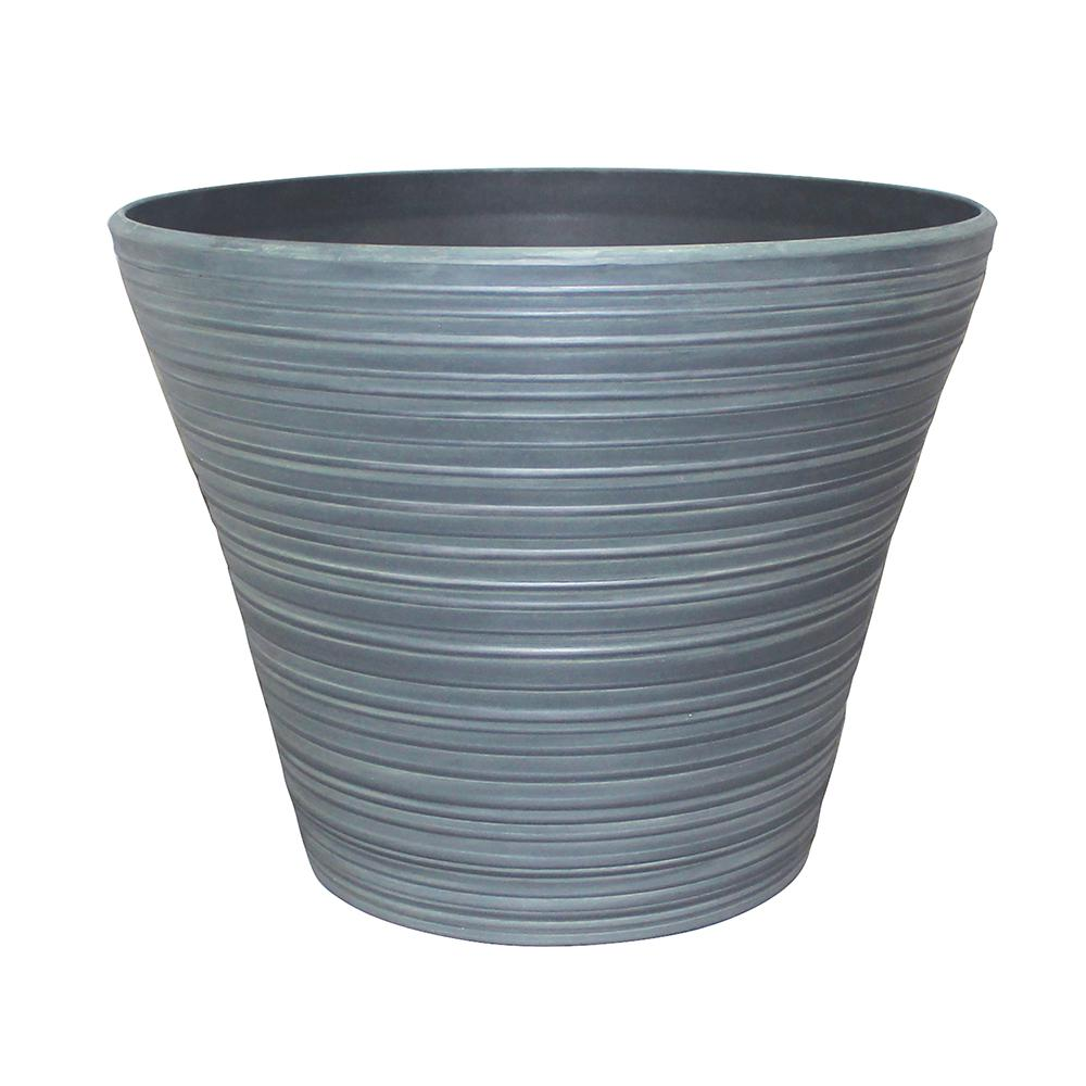 Southern Patio Cabana 16 in. Dia Resin Planter