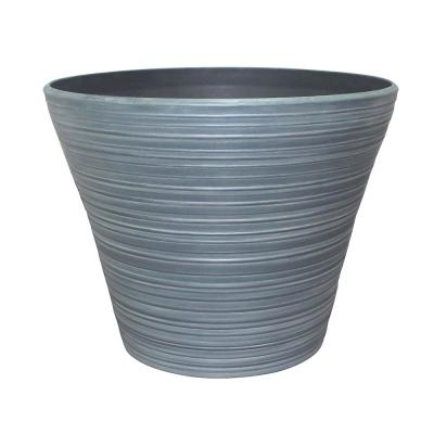 Cabana 16 in. x 12.5 in. Gray Resin Planter