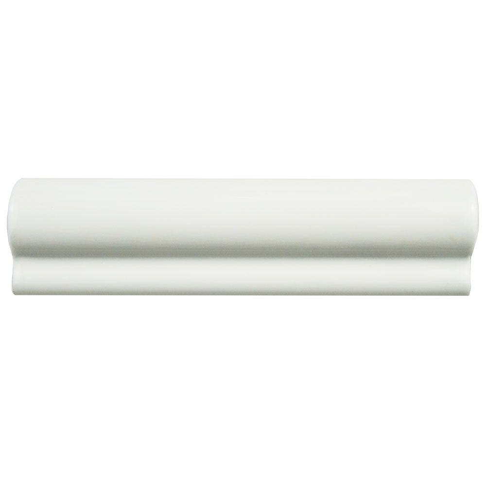 merola tile santorini blanco 2 in x 8 in london chair rail ceramic wall trim tile waesnblc. Black Bedroom Furniture Sets. Home Design Ideas