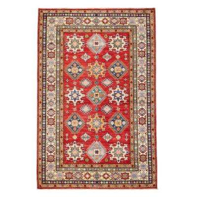 Kazak Rust 5 ft. x 7 ft. Indoor Area Rug