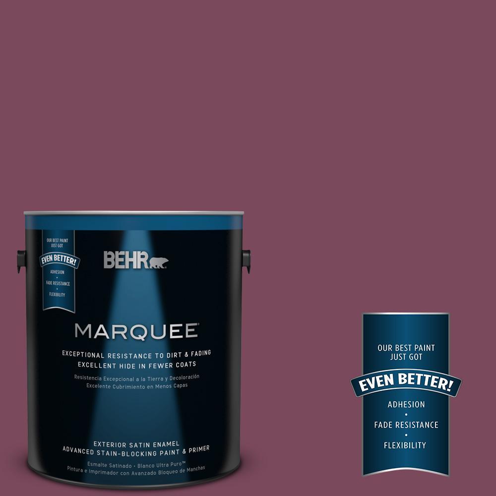BEHR MARQUEE 1-gal. #100D-7 Maroon Satin Enamel Exterior Paint