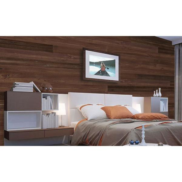 Ejoy 5 In W X 48 In L Reclaimed Peel And Stick Solid Wood Wall Paneling 2 Box Woodplanket C08 2box The Home Depot