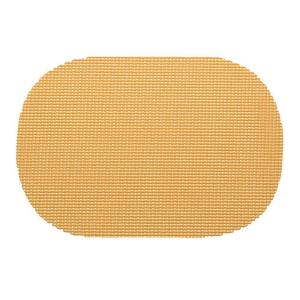 Kraftware Fishnet Oval Placemat in Camel (Set of 12) by Kraftware