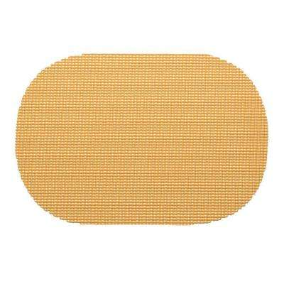 Fishnet Oval Placemat in Camel (Set of 12)