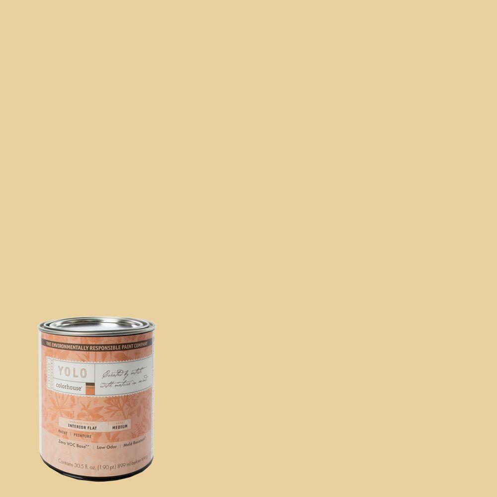 YOLO Colorhouse 1-Qt. Grain .03 Flat Interior Paint-DISCONTINUED