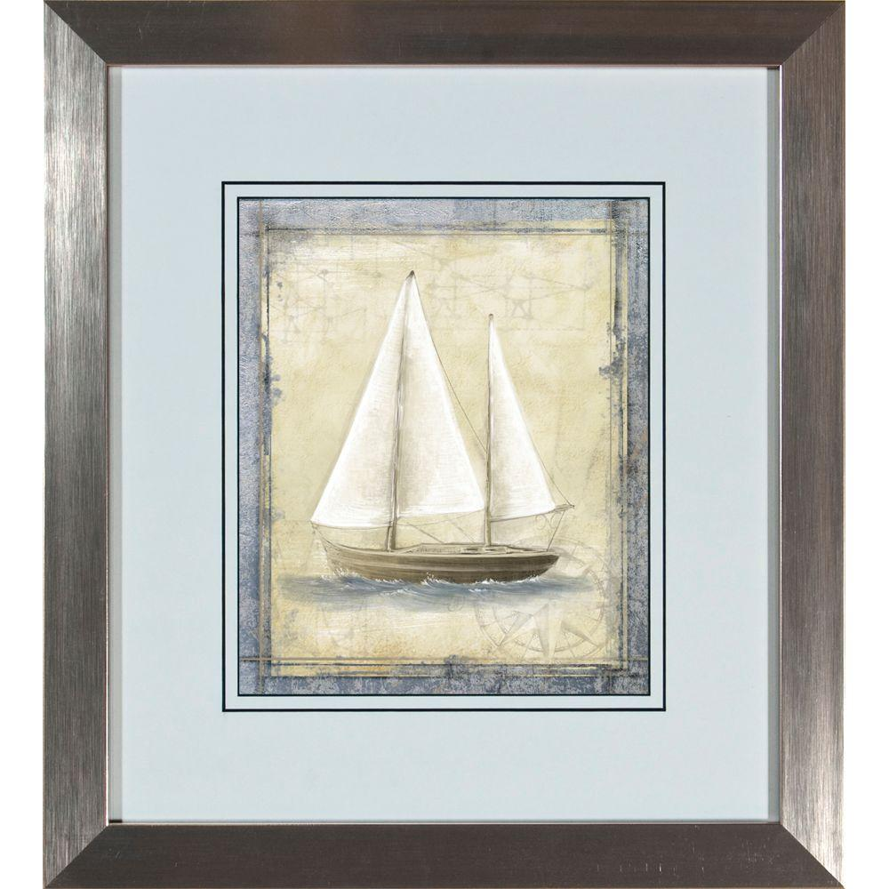"18.5 in. x 20.5 in. ""Boat Sketch A"" Framed Wall Art"