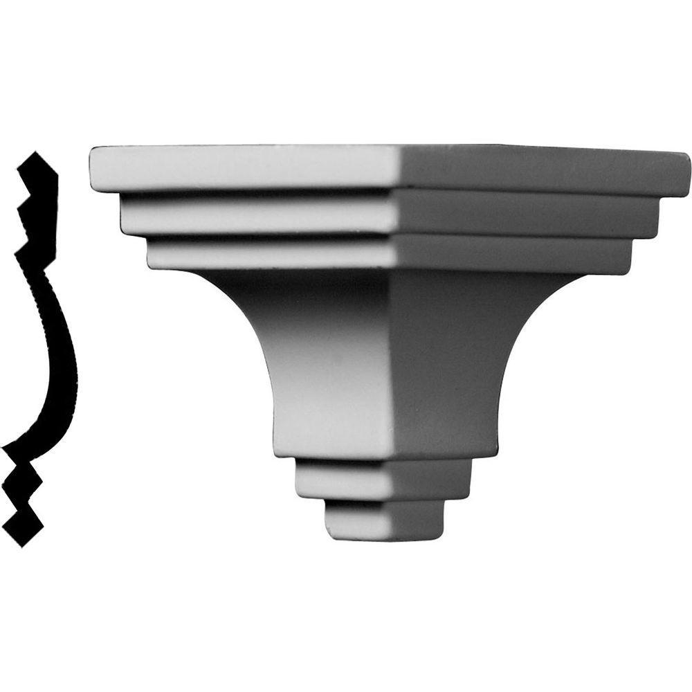2-3/4 in. x 2-3/4 in. x 2-3/4 in. Polyurethane Crown Outside Corner Moulding