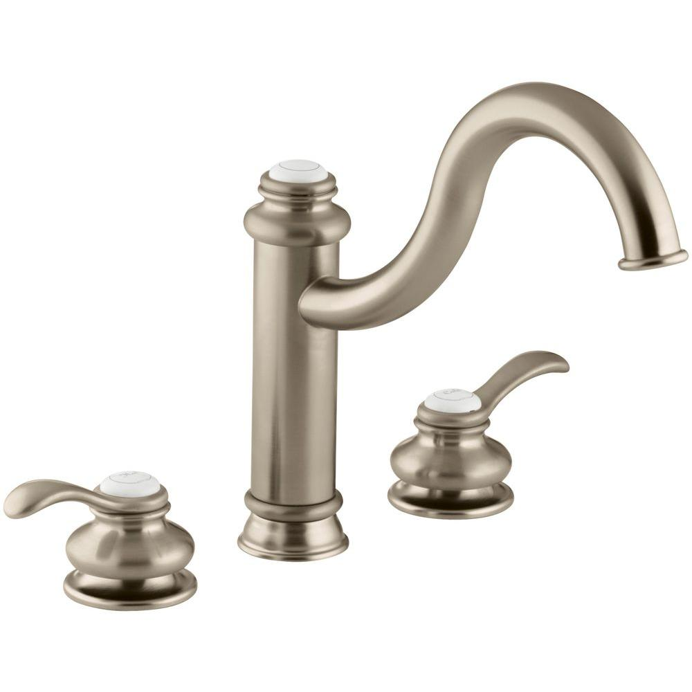KOHLER Fairfax 2-Handle Kitchen Faucet in Vibrant Brushed Bronze