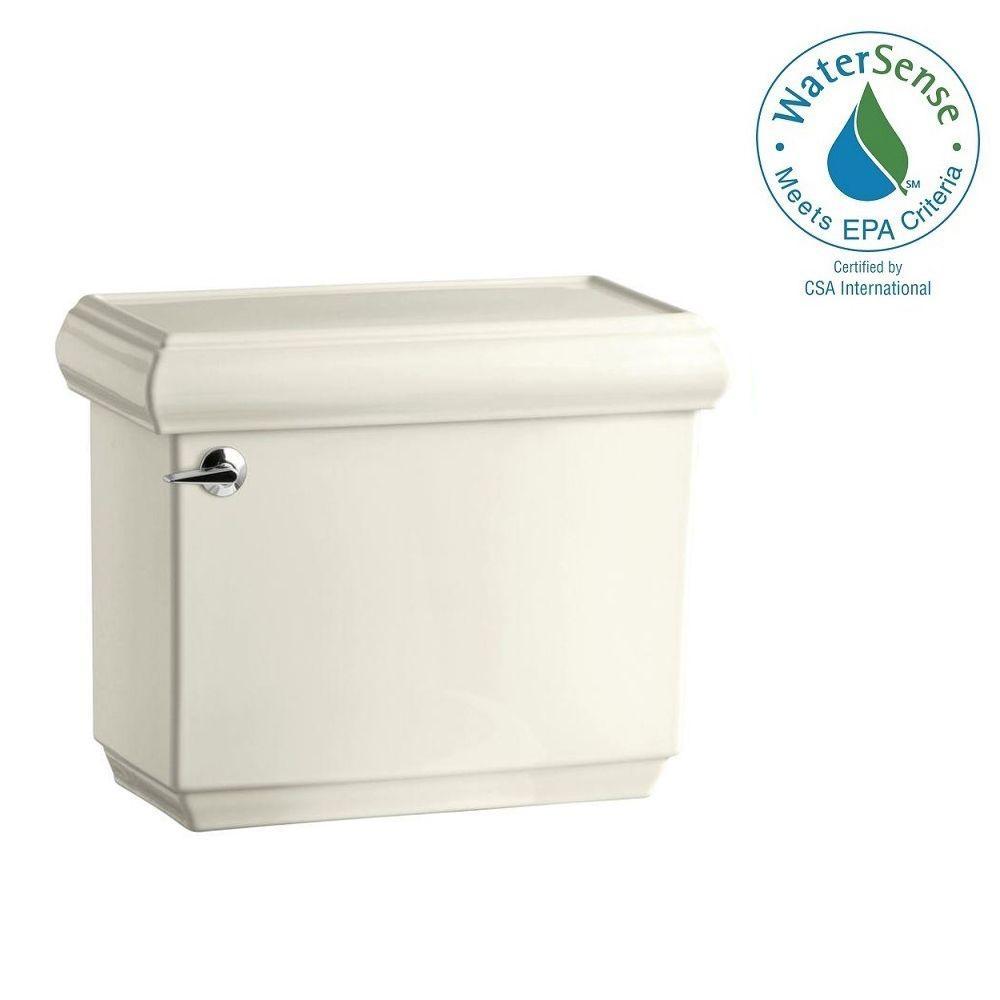 KOHLER Memoirs 1.28 GPF Single Flush Toilet Tank Only with AquaPiston Flushing Technology in Biscuit