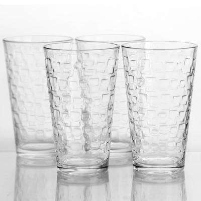 Great Foundations  16 oz. Glass Tumblers (4-Pack)