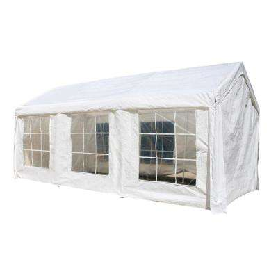 10 ft. x 20 ft. x 8.2 ft. White Roof PVC Carport