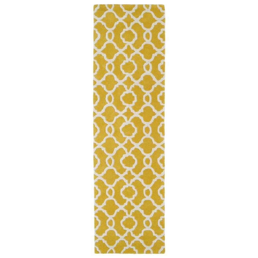 Kaleen Revolution Yellow 2 ft. 3 in. x 8 ft. Runner