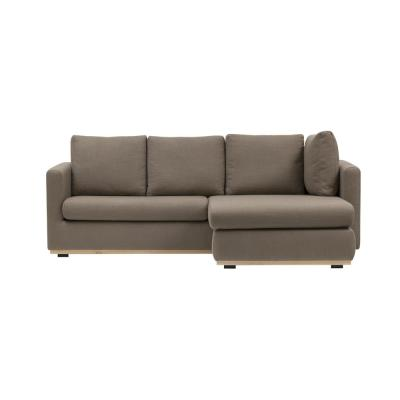 Mushroom Grey Sofa with Changeable Left or Right Facing Chaise Lounge