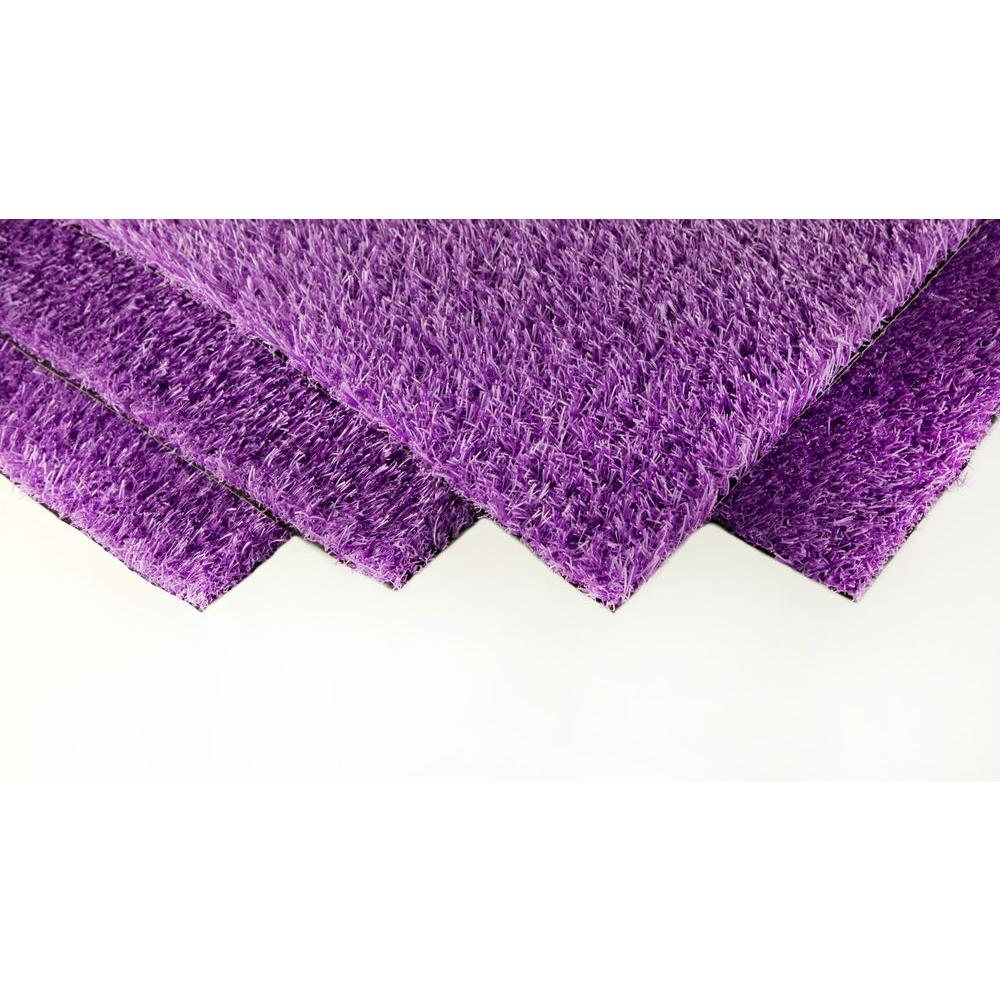 GREENLINE Royal Purple Artificial Grass Synthetic Lawn Turf Indoor/Outdoor  Carpet, Sold By 12