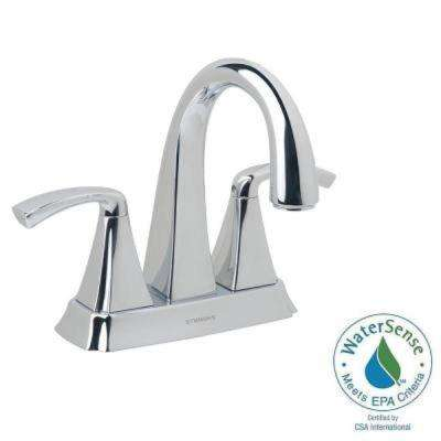 Bramwell 4 in. Centerset 2-Handle Mid-Arc Bathroom Faucet in Chrome
