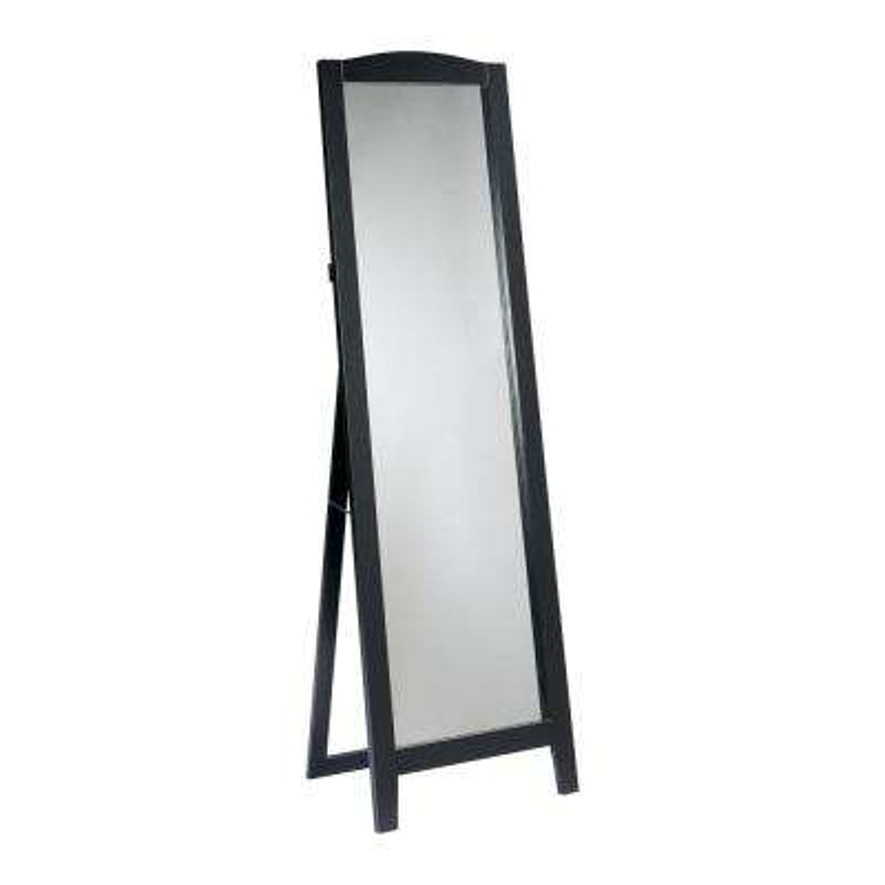 Black Wood Frame Easel Dressing Floor Mirror