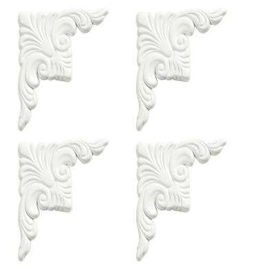 Dove White Decorative Corner Plates (4-Pack)