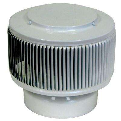 Aura PVC Vent Cap 6 in. Dia Exhaust Vent with Adapter to Fit Over 6 in. PVC Pipe in White Powder Coat