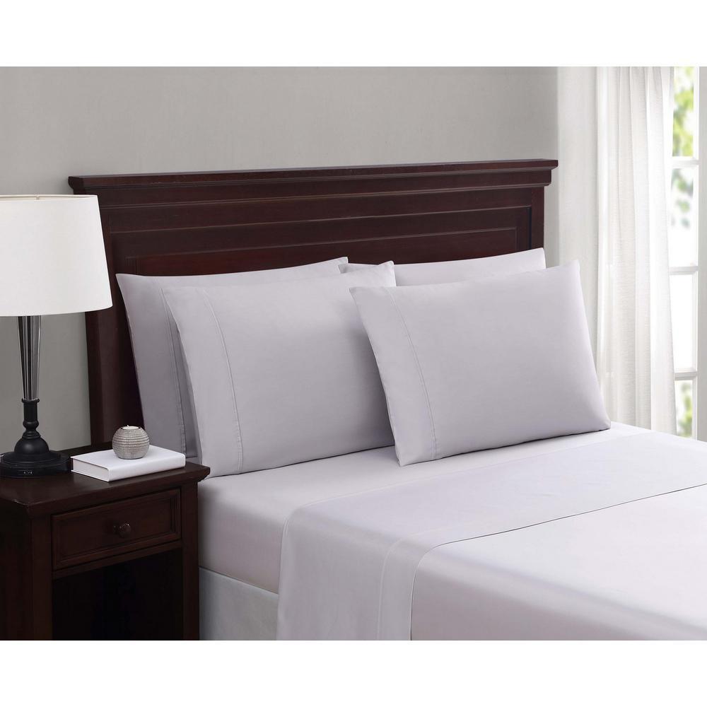 Everyday Cotton Blend Sheet Sets Lilac Hint Purple 6-Piece Queen Sheet Set