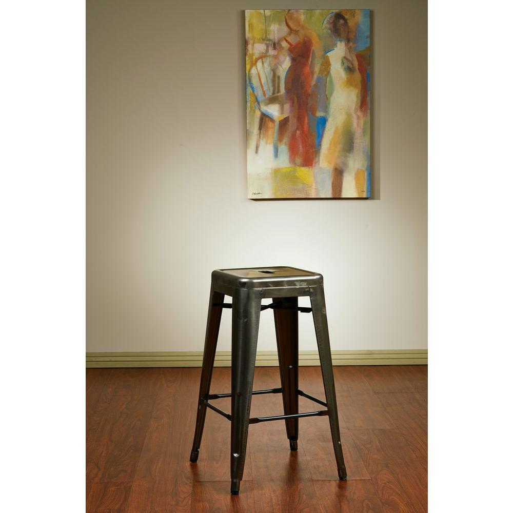 Bristow 26.25 in. Gunmetal Bar Stool (Set of 4), Gun Metal