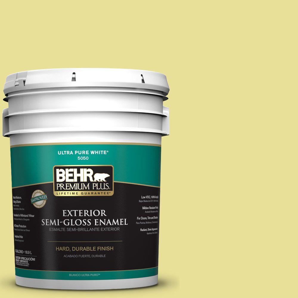 5-gal. #P340-3 Reviving Green Semi-Gloss Enamel Exterior Paint